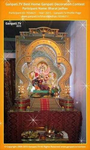 Bharat Jadhav Ganpati Decoration