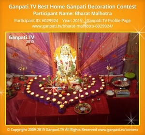 Bharat Malhotra Ganpati Decoration