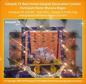 Bhavana Magoo Ganpati Decoration