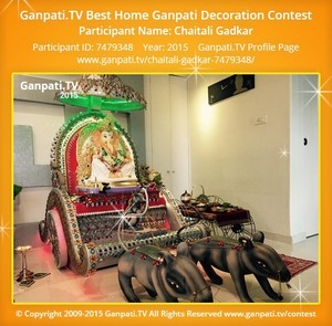 Chaitali Gadkar Ganpati Decoration