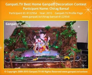 Chirag Bansal Ganpati Decoration