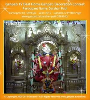 Darshan Patil Ganpati Decoration