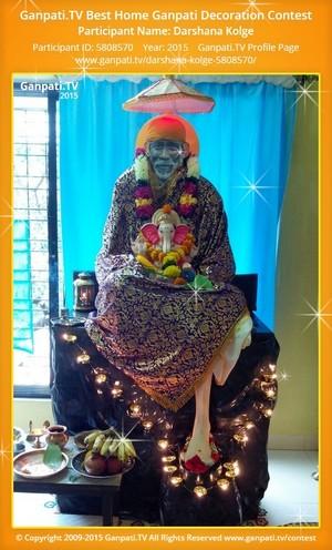 darshana kolge Ganpati Decoration