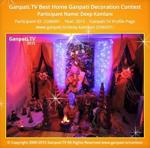 Deep Kamlani Ganpati Decoration