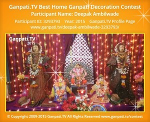 Deepak Ambilwade Ganpati Decoration
