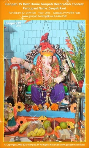 Deepak Raut Ganpati Decoration