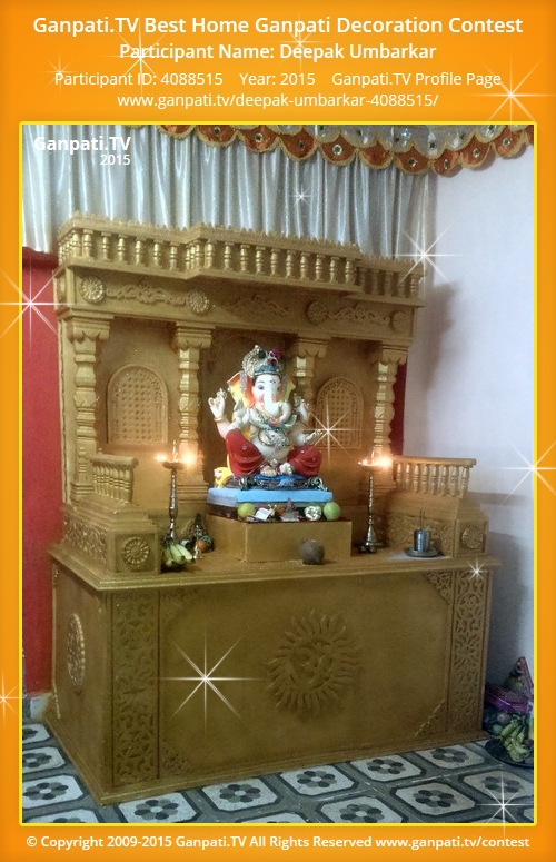 Deepak umbarkar ganpati tv Ganpati decoration design for home