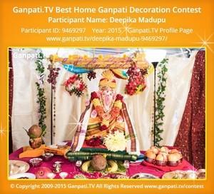 Deepika Madupu Ganpati Decoration