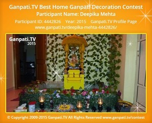 deepika mehta Ganpati Decoration