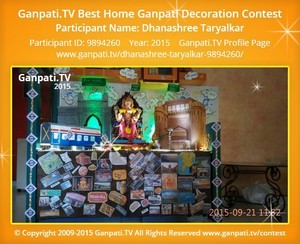 Dhanashree Taryalkar Ganpati Decoration