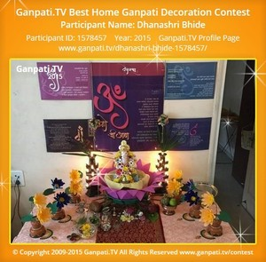 Dhanashri Bhide Ganpati Decoration