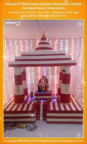 Dheeraj Malu Ganpati Decoration