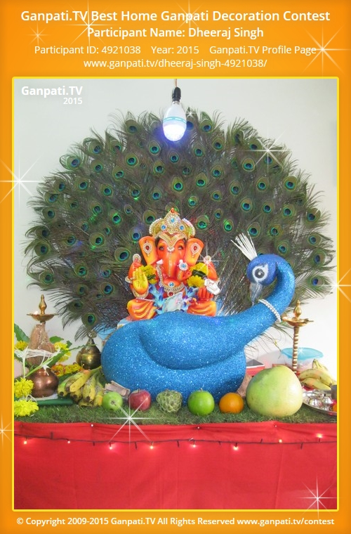 Dheeraj singh ganpati tv Ganpati decoration design for home