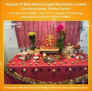 Divisha Chatlani Ganpati Decoration