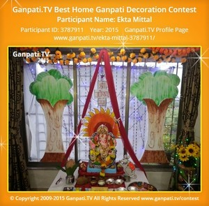 Ekta Mittal Ganpati Decoration