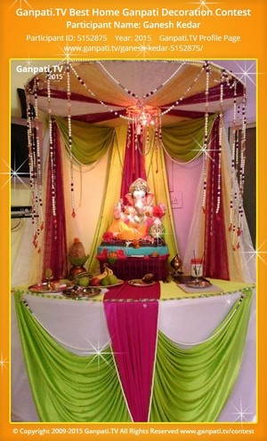 Ganesh Kedar Ganpati Decoration