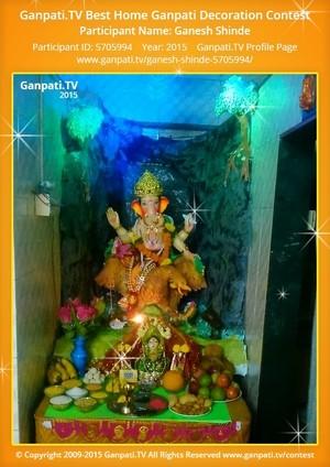 Ganesh Shinde Ganpati Decoration