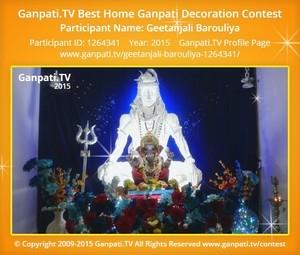 GEETANJALI BAROULIYA Ganpati Decoration