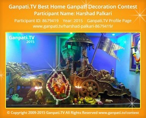 Harshad Palkari Ganpati Decoration