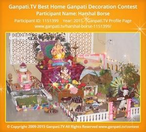 Harshal Borse Ganpati Decoration