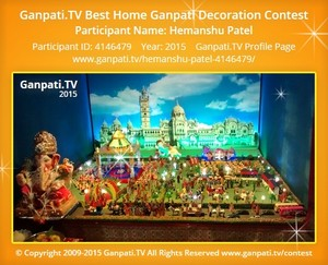 Hemanshu Patel Ganpati Decoration