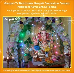 Janhavi Panchal Ganpati Decoration