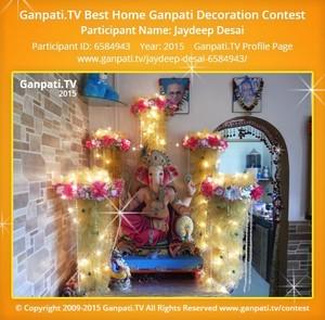 Jaydeep Desai Ganpati Decoration