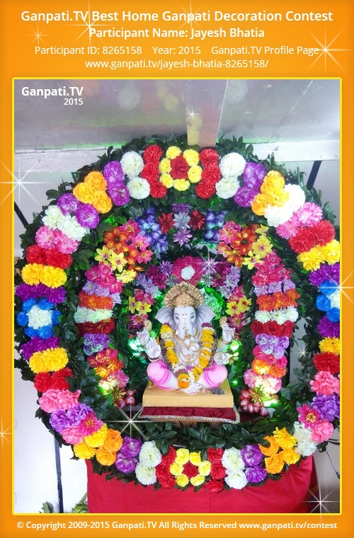 Jayesh bhatia ganpati tv for Artificial flower decoration for ganpati