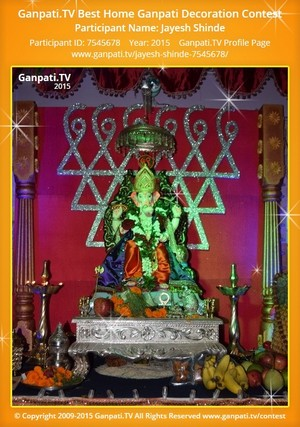 Jayesh Shinde Ganpati Decoration