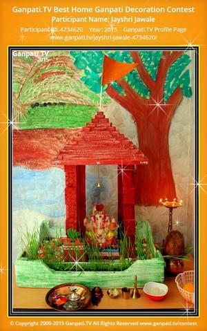 Jayshri Jawale Ganpati Decoration