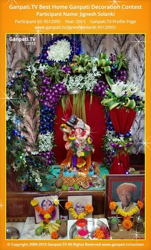 Jignesh Solanki Ganpati Decoration