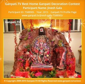 Jinesh Gala Ganpati Decoration