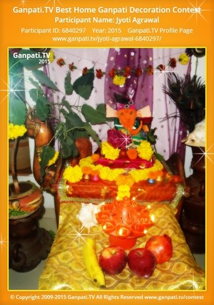 Jyoti Agrawal Ganpati Decoration