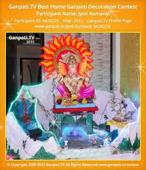 Jyoti Kumavat Ganpati Decoration