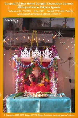 Kalpana Agarwal Ganpati Decoration