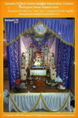 Kalpesh Patel Ganpati Decoration