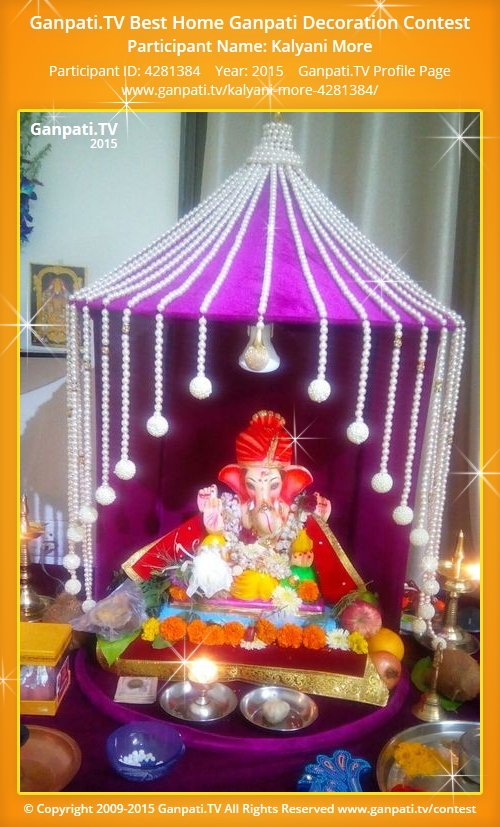Kalyani more ganpati tv for Decorations of ganpati for home