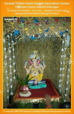 Kamlesh Kshirsagar Ganpati Decoration