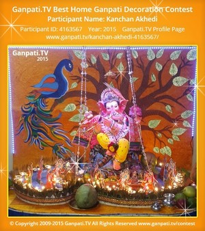 Kanchan Akhedi Ganpati Decoration