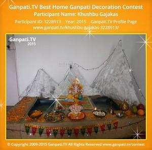 Khushbu Gajakas Ganpati Decoration