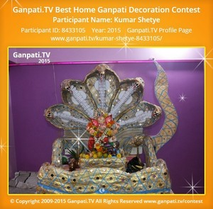 Kumar Shetye Ganpati Decoration