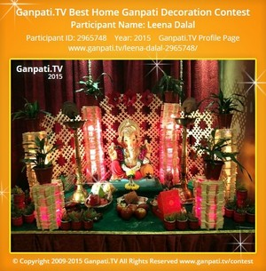 Leena Dalal Ganpati Decoration