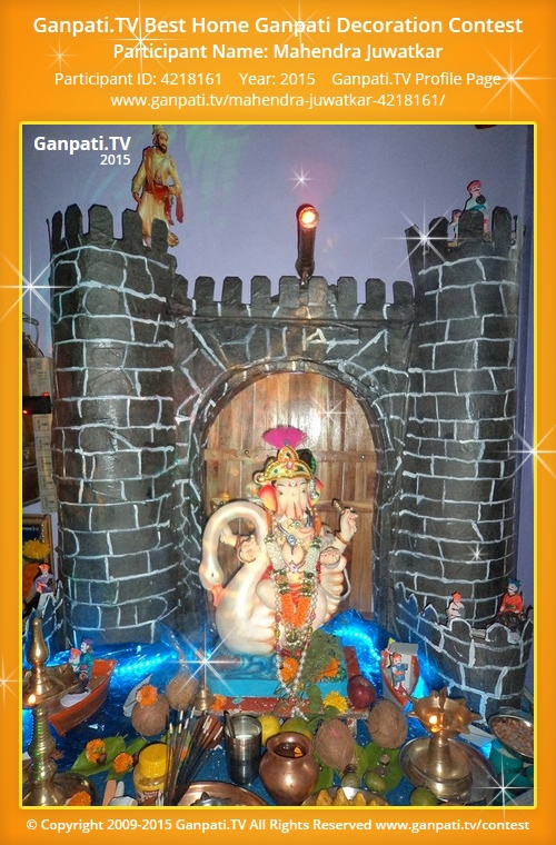 Mahendra juwatkar ganpati tv Ganpati decoration design for home
