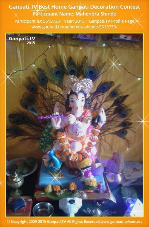 Mahendra shinde ganpati tv for Peacock feather decorations home