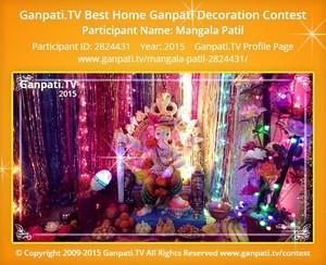 mangala patil Ganpati Decoration