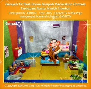 Manish Chauhan Ganpati Decoration