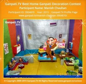 Manish Chauhan Ganpati Decoration