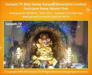 MANISH Shah Ganpati Decoration