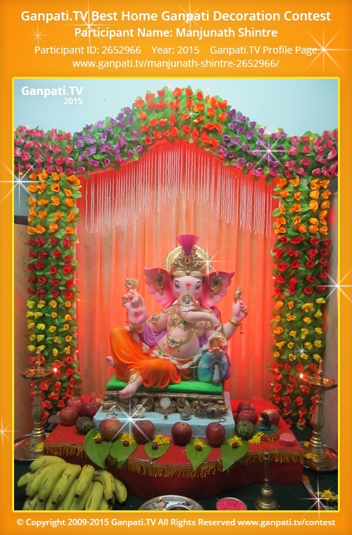 Manjunath shintre ganpati tv for Artificial flower decoration for ganpati
