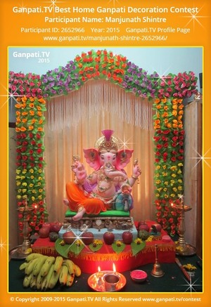 Manjunath Shintre Ganpati Decoration